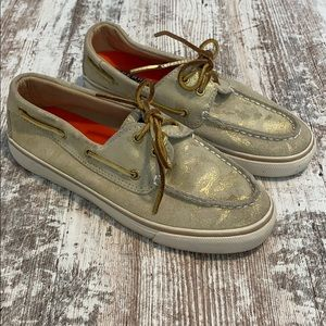 Sperry top sider gold metallic camouflage